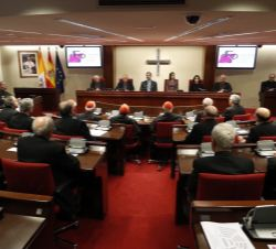 Vista general de la asamblea plenaria de la Conferencia Episcopal Española