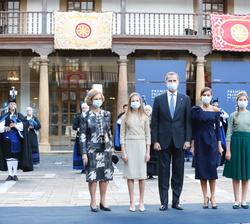 Sus Majestades los Reyes, Su Majestad la Reina Doña Sofía y Sus Altezas Reales la Princesa de Aturias y la Infanta Doña Sofía