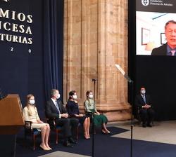 Proyección del video de agradecimiento de Seth Berkley, presidente Gavi, The Vaccine Alliance, Premio Princesa de Asturias de Cooperación Internaciona