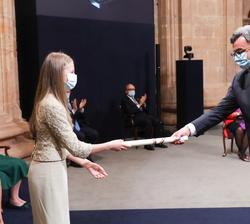 Emmanuel Candés recoge el Premio Princesa de Asturias de Investigación Científica y Técnica de Su Alteza Real
