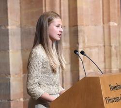 Doña Leonor en su intervención en los Premios Princesa de Asturias 2020