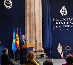 Palabras de Su Majestad el Rey con motivo de la Ceremonia de entrega de los Premios Princesa de Asturias 2020